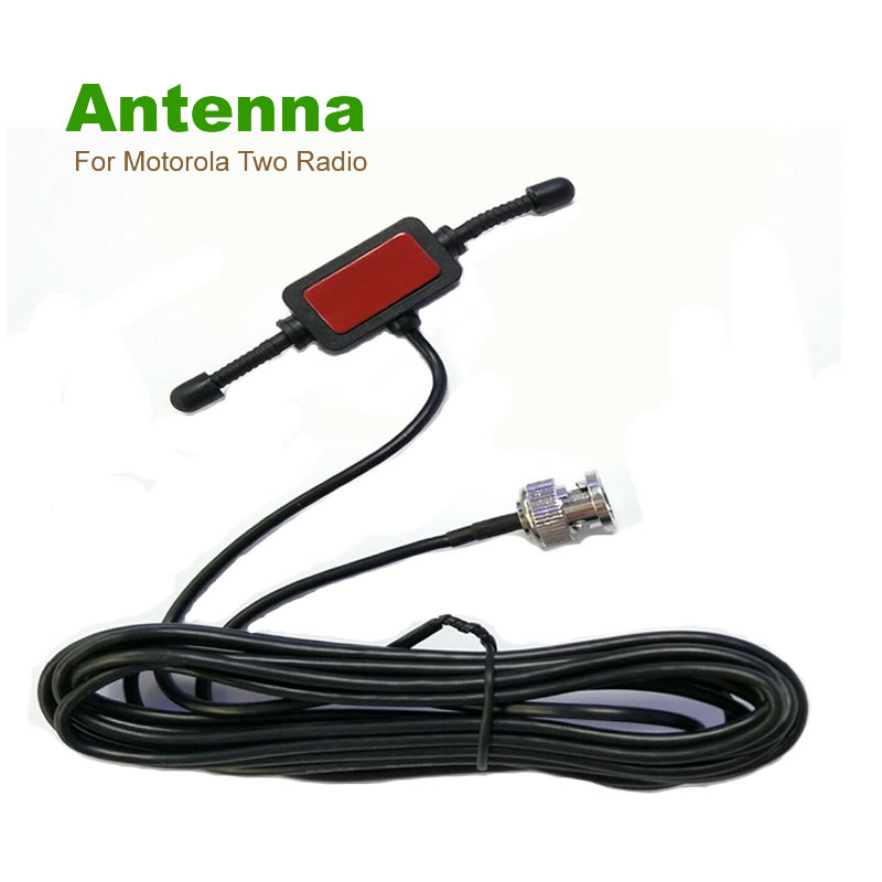 Radioddity Scanner Antenna For Uniden For Motorola Two Radio BNC Glass Mount 4 Mobile Full Band Walkie Talkie