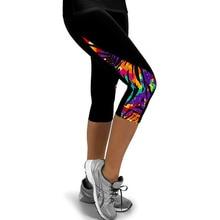 Пешеходные печатные спортивной запуск бархат колготки леггинсы фитнес женские спорт брюки