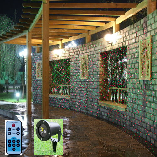 Waterproof Outdoor / Indoor Christmas Lights RG laser Projector Red Green Moving lights with Remote Controller