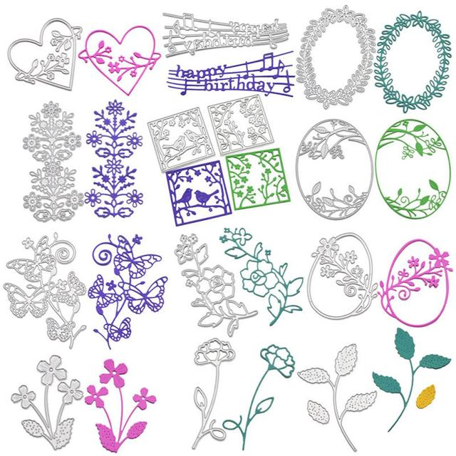 Metal Cutting Dies Stencil DIY Scrapbooking Album Paper Card Embossing Craft Embossing Stencils