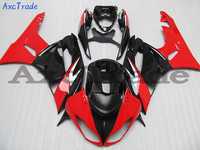 Fit For Kawasaki ZX6R 636 ZX 6R 2009 2010 2011 2012 09 10 11 12 Motorcycle Fairing Kit High Quality ABS Plastic Red C416