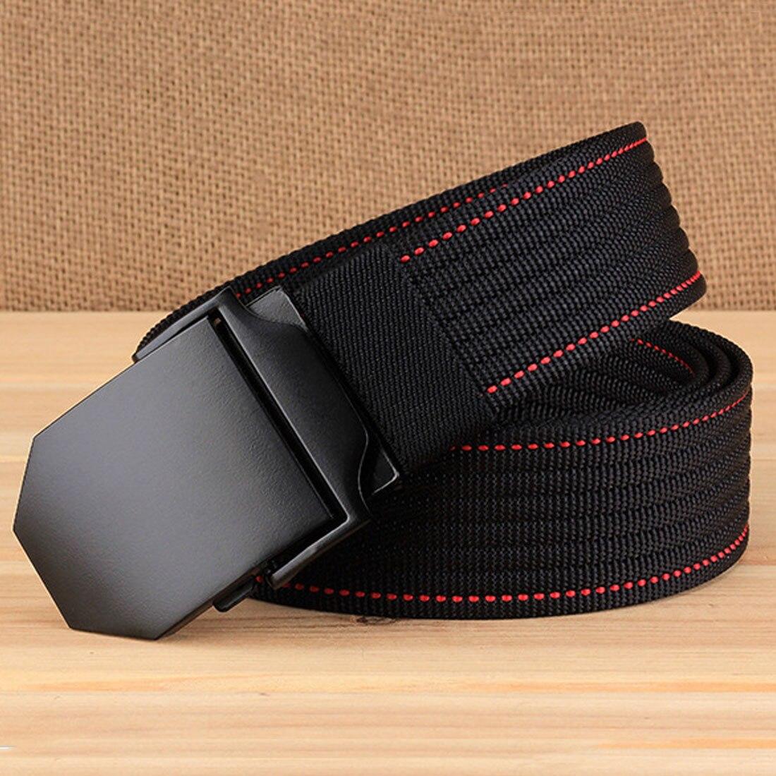 Alliage extérieur automatique boucle hommes ceinture unisexe tactique 3.8 cm large ceinture décontractée en toile pour les ceintures d'entraînement militaire Durable