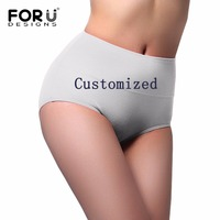 FORUDESIGNS 3D Animal Printing Panties Women Customized Cat Dog Face Seamless Ladies Panties Underwear Female Funny