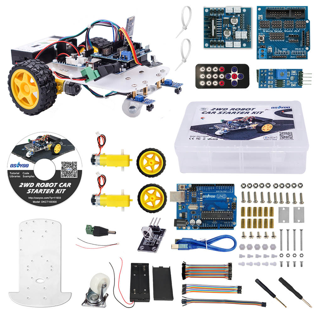 Image 2 - OSOYOO 2WD Robot Car Starter Kit for UNO R3 Arduino Project Smart Educational Toy Car Robotic Kit-in Demo Board from Computer & Office