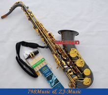 professional new black Nickel Gold tenor Saxophone with Sax Case