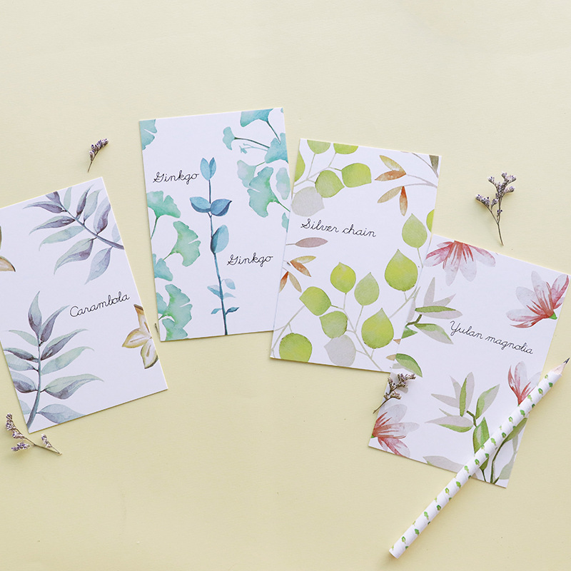 30pcs/lot Greenery Postcard Greeting Card Green Plants Wish Card Paper Bookmark Memo Message Cards Gifts Cute Stationery