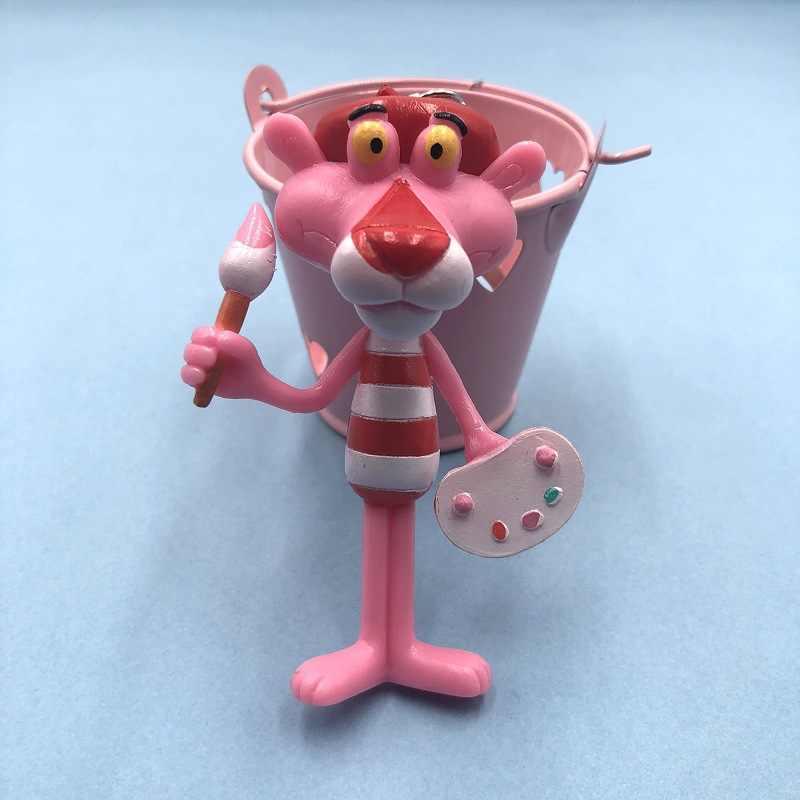 2019 o novo chaveiro de vinil boneca presente para as mulheres pantera rosa dos desenhos animados chaveiro criativo aniversário chaveiro pequeno presente