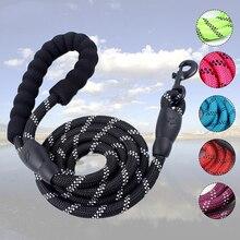 Nylon Rope Large Dog Leash Reflective Pet Leashes Long Lead Big Dog Mountain Climbing Leash Traction Rope For Medium Large Dogs