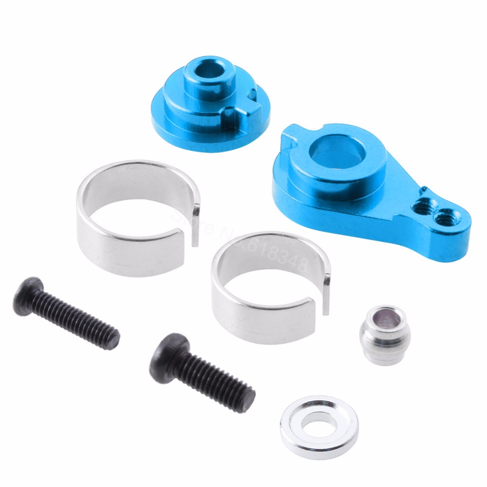 Aluminum Alloy Steering Servo Horn Arm 0033 For WLtoys 12428 12423 1/12 RC Car Crawler Short Course Truck Upgrade Parts wltoys 12428 12423 1 12 rc car spare parts 12428 0091 12428 0133 front rear diff gear differential gear complete