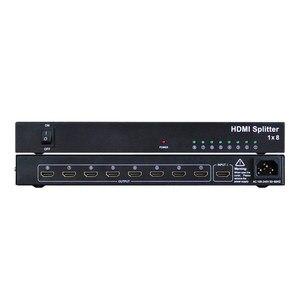 Image 5 - 1x8 hdmi splitter AMS H1S8 unterstützung 1080p 3D 4K HD auflösung wie dtech DT 7148 in dicolor led vermietung backlit display