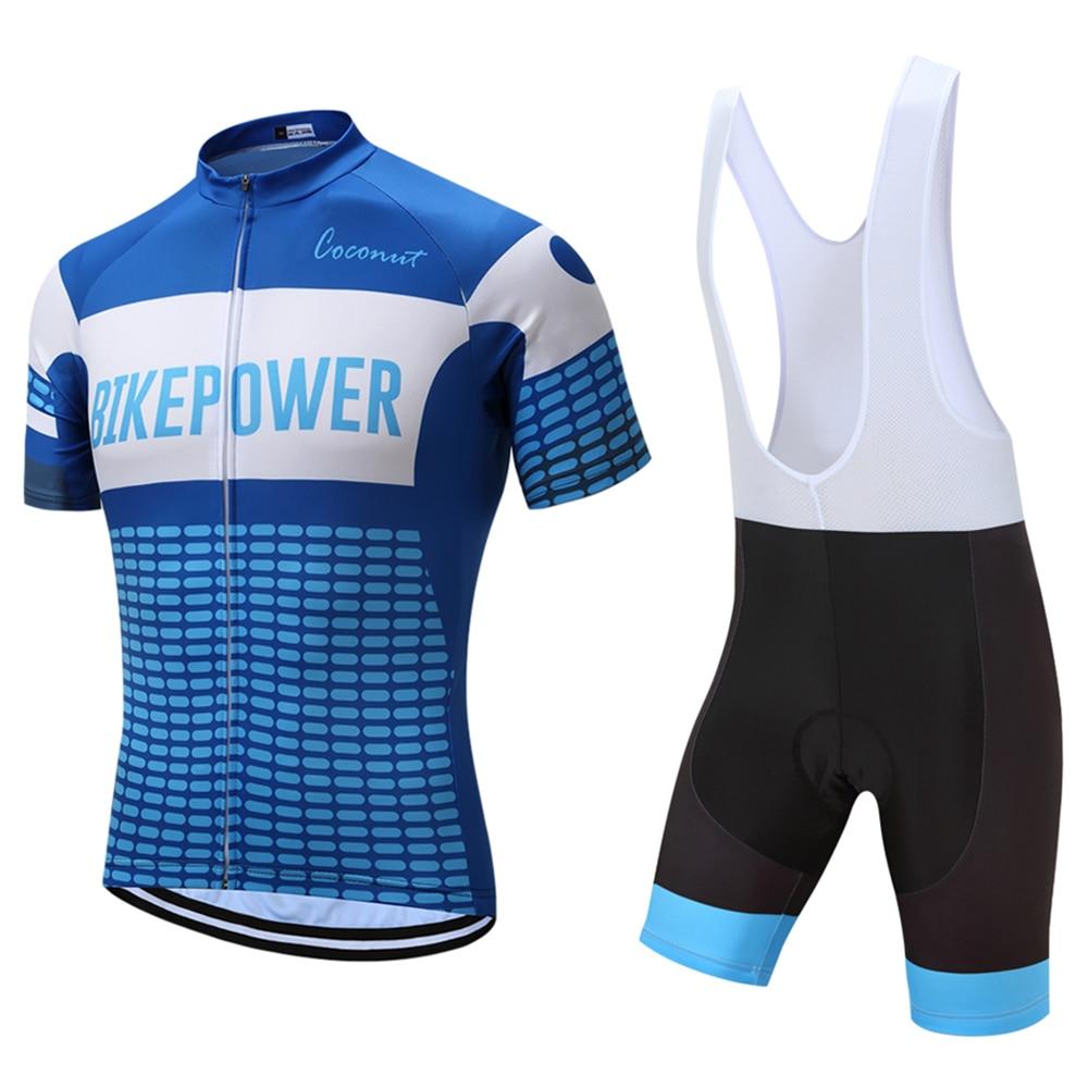 Coconut Ropamo Cycling Jersey Set For Men Short Sleeve Shirts + Bib Shorts  Quick Dry Bicycle Clothes Bike Wear Triathlon Suit 540f23ec0
