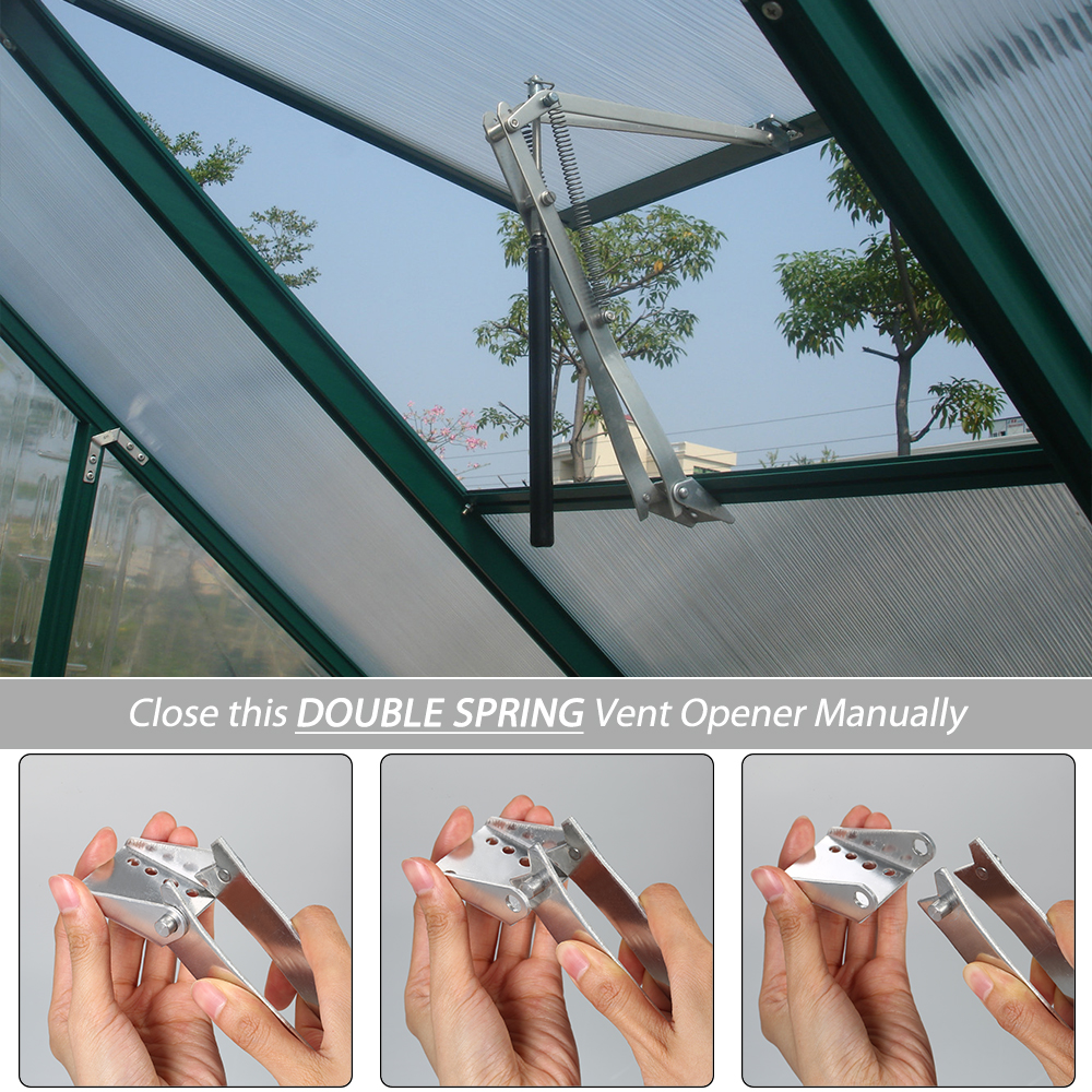 Solar Heat Sensitive Auto Thermo Greenhouse Vent Window Opener Automatic Vent Kit For Greenhouses Agricultural Windows Opening