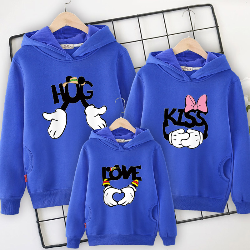 Image 4 - Family clothes family matching Hooded sweater 2019 spring  new mother daughter dresses  father and son mom and girl clothing-in Matching Family Outfits from Mother & Kids