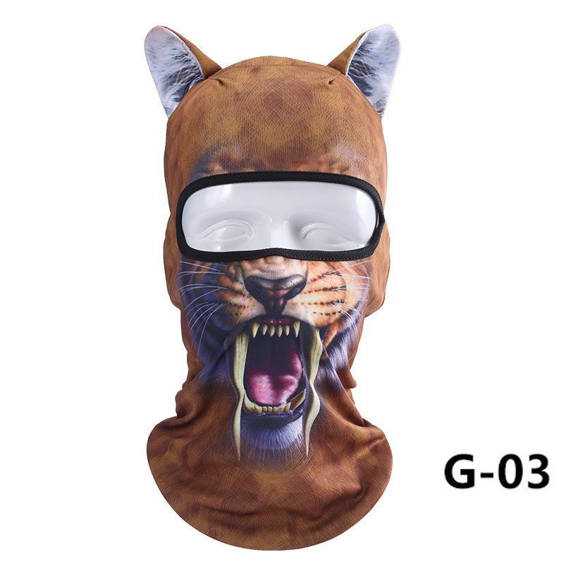 1 Pcs Thin 3D Animal Outdoor Cycling Ski Face Mask Neck Hood Full Face Mask Hat KS-shipping