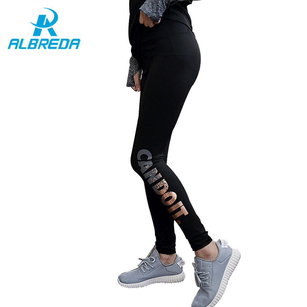 f8e92a0a1bd06 ALBREDA Quick-drying Women's Sports Fitness Yoga Pants Functional Gym  Running Workout Pant Ankle-