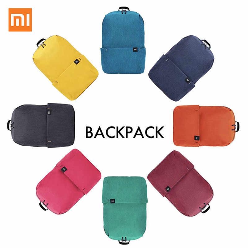 c1270b3a04ab Оригинальный Xiaomi Mi сумка Xiaomi сумки рюкзак 10L сумка 8 цветов 165 г  городского отдыха спортивные