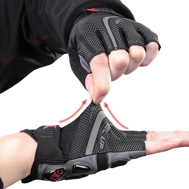 Half Finger Cycliing Gloves Summer Men Women MTB Gloves Breathable Anti Slip Road Bike Gloves Bicycle Motorcycle Glove Elastic in Cycling Gloves from Sports Entertainment