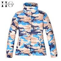 HEE GRAND Winter Jacket Women Basic Coat Women Slim Jacket Cool Camouflage Coat Outwear Manteau Femme