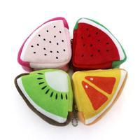 3D Fruit Shape Coin Purse Wallet Triangle Zipper Travel Storage Bag Portable Mini USB Cable Earphone Case Cosmetic Organizer