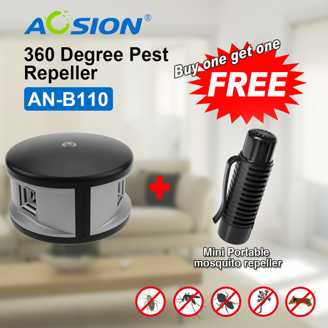 Aosion electronic Pest Control  Ultrasonic Mouse Repellent Home Rodent Rat  Repeller(got a protable mosquito repeller free)