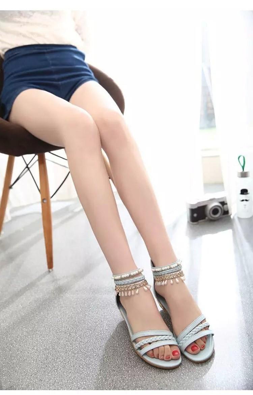 women sandals 2016 fashion Bohemia gladiator sandals women beading sandalias mujer wedges shoes for women 2016 new spring DT141 (1)
