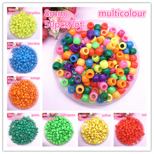 New 50pcs 8mm Round Plastic Beads Spacer Loose for Jewelry Making DIY Bracelet