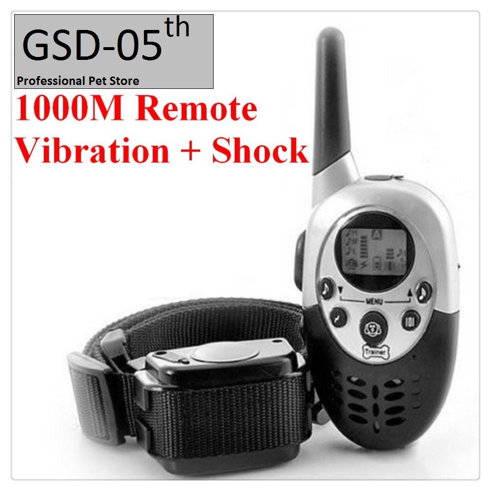 1000M Pet Dog Training Collar Pet Training Collar Dog Trainer Water Resistant Rechargeable LCD Remote Electric