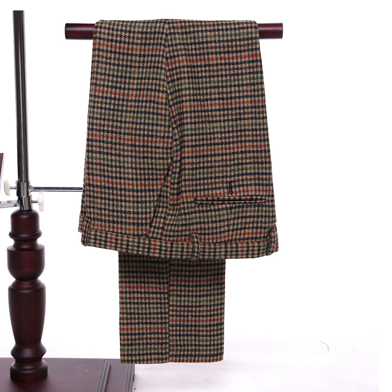 Classic new mens suit red yellow green stripes lapel double-breasted mens business office suite (jacket + pants + vest) custom