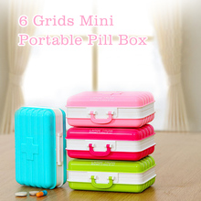 Portable Pill Box Tablets Case Medicine Container Organizer Jewelry Storage 6 Grids