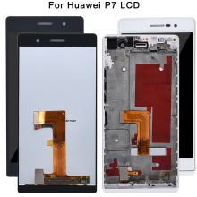 For Huawei Ascend P7 Lcd Display Touch Screen With Frame Assembly 5 inch Lcd Digitizer For Huawei P7 Mobile Replacement Tested