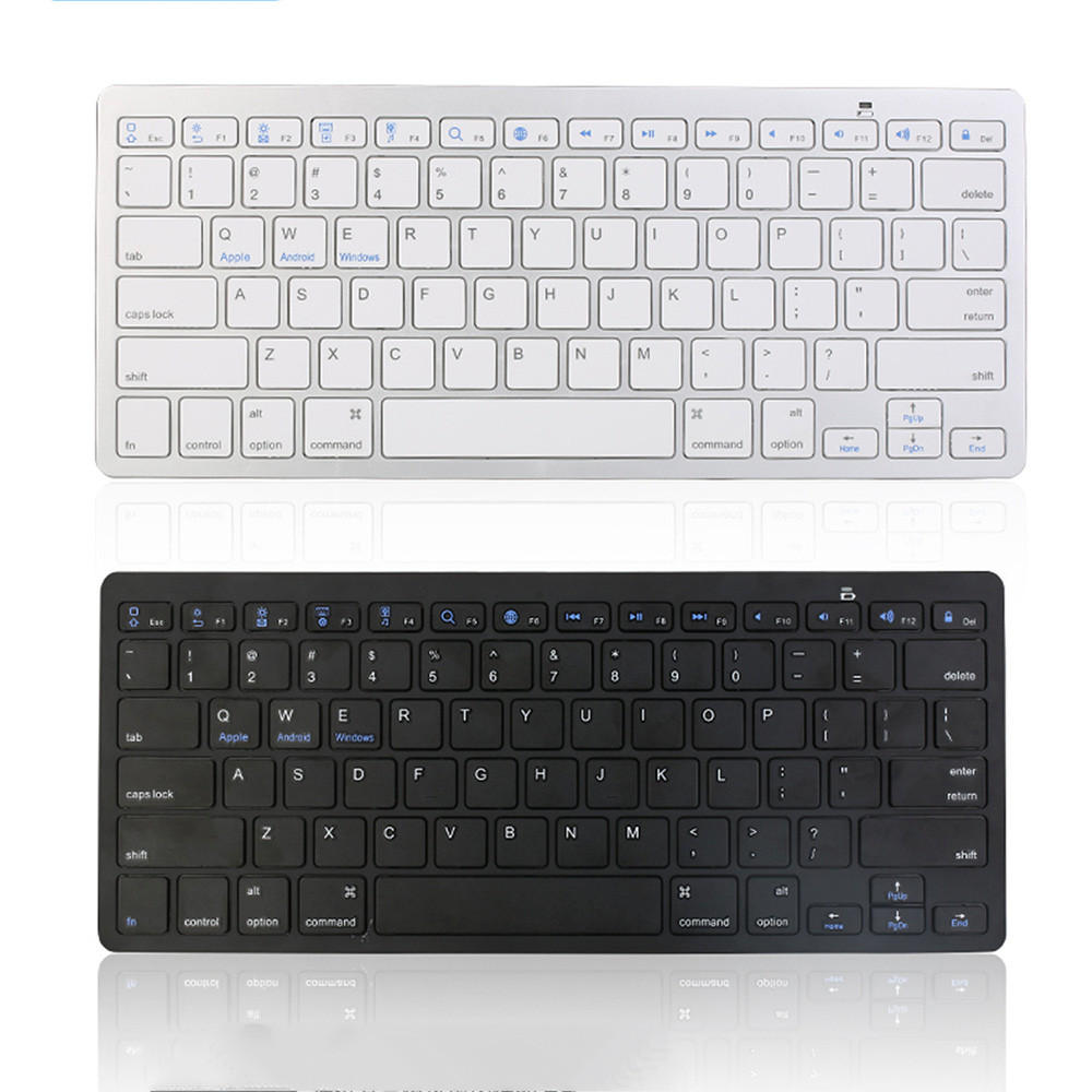 new slim wireless bluetooth keyboard business office home use high quality keypad for imac ipad. Black Bedroom Furniture Sets. Home Design Ideas