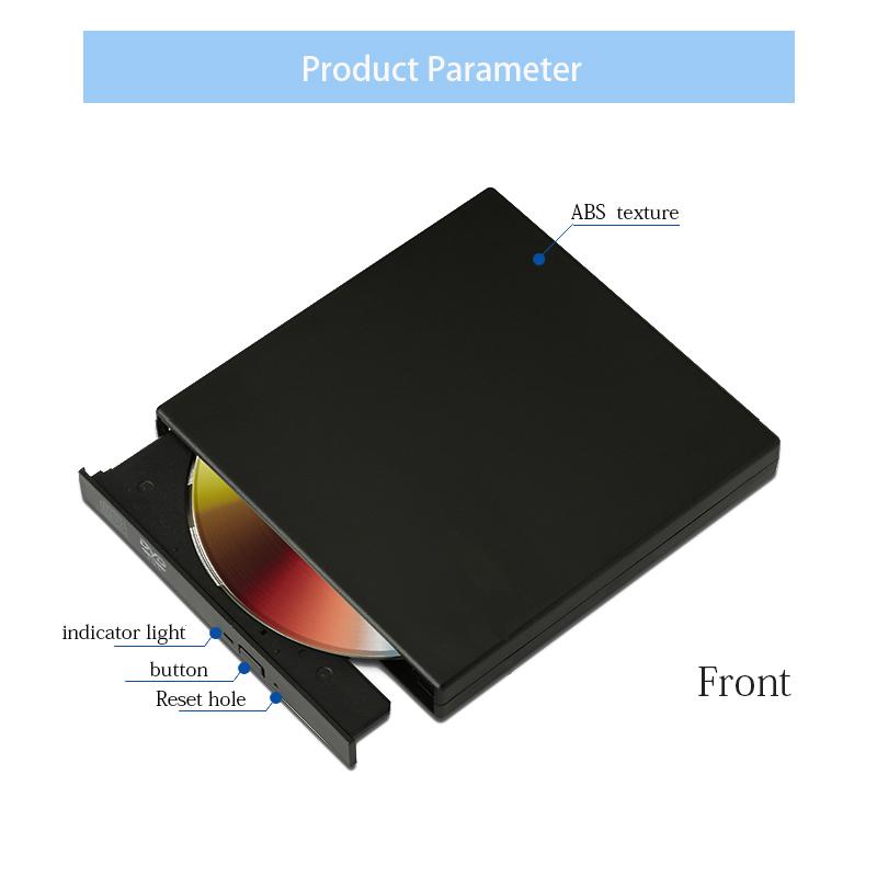 External USB DVD Optical Drives CD/DVD Player CD-RW Burner Writer Recorder  Portatil for Laptop Computer pc Windows +Drive bag