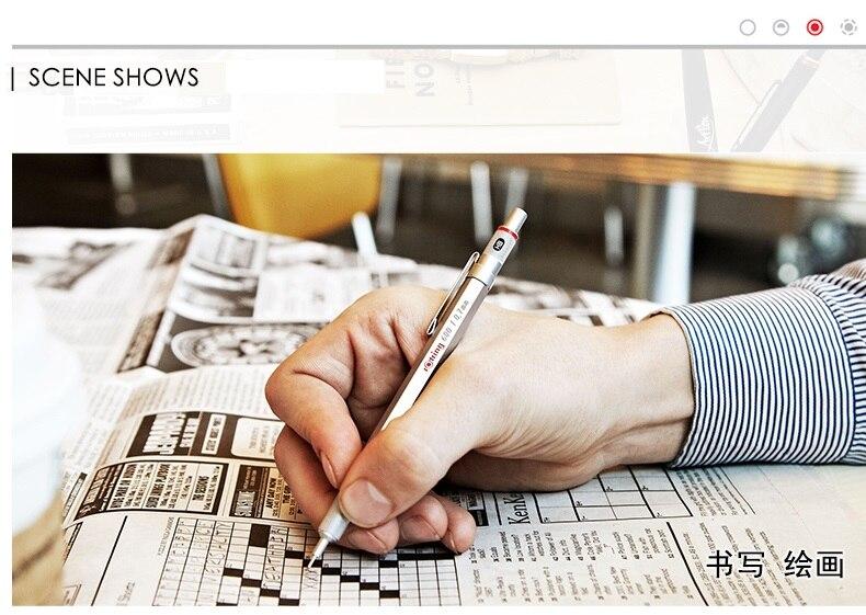prata preto titular caneta de desenho a lápis automático