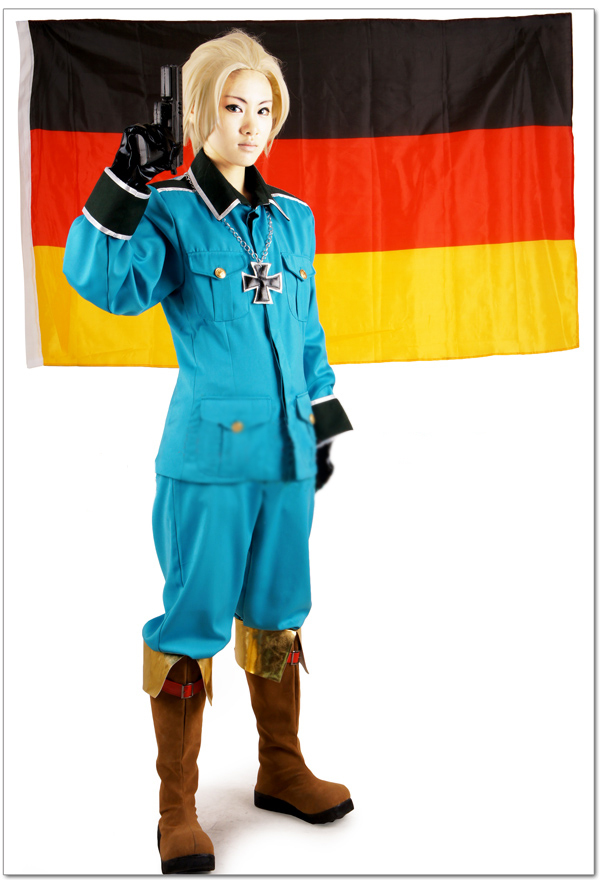 Free Shipping Axis Powers Hetalia Germany Ludwig Beilschmidt Uniform Anime Cosplay Costume