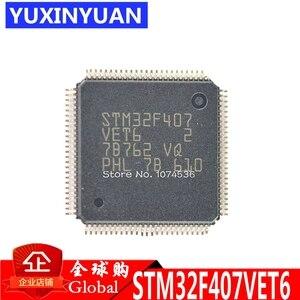 10 шт./лот, микроконтроллер STM32F407VET6 STM32F407, 32 бит, 512 k flash LQFP100