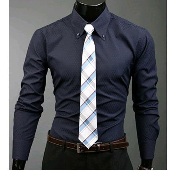 men's button down shirt Long sleeve Formal Camisa tactical ...
