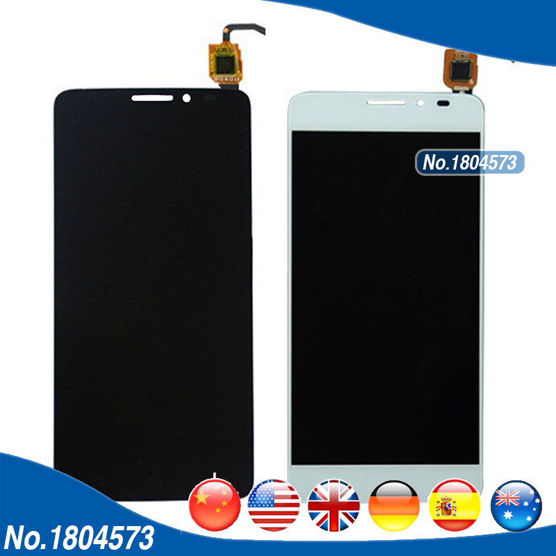 LCD Assembly For Alcatel One Touch Idol X+ X Plus 6043 6043D OT6043 LCD Display and Touch Screen Panel Glass Digitizer 1PC/Lot  white black 1 pcs for alcatel one touch idol x 6043 ot6043 lcd display with touch screen digitizer assembly free shipping