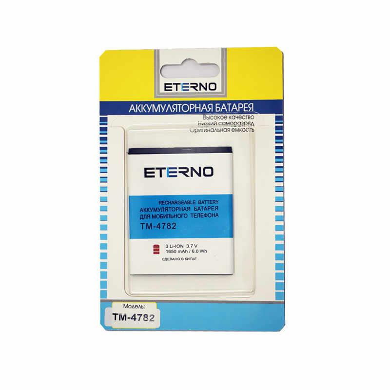 Eterno реальная емкость мобильного телефона литиевая аккумуляторная батарея для texet TM-4782 tm4782 4782 1650 mAh