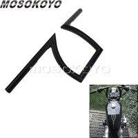 25mm Z Bar Motorbike Cafe Racer 1 Black Drag Bar 23 Wide 8 Rise 6.5 Pullback Handlebars for Harley Chopper Cruiser Scrambler