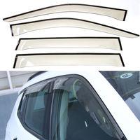4 pcs auto car janela deflector de vento sol guarda chuva capa apto para jeep compass 2017 +