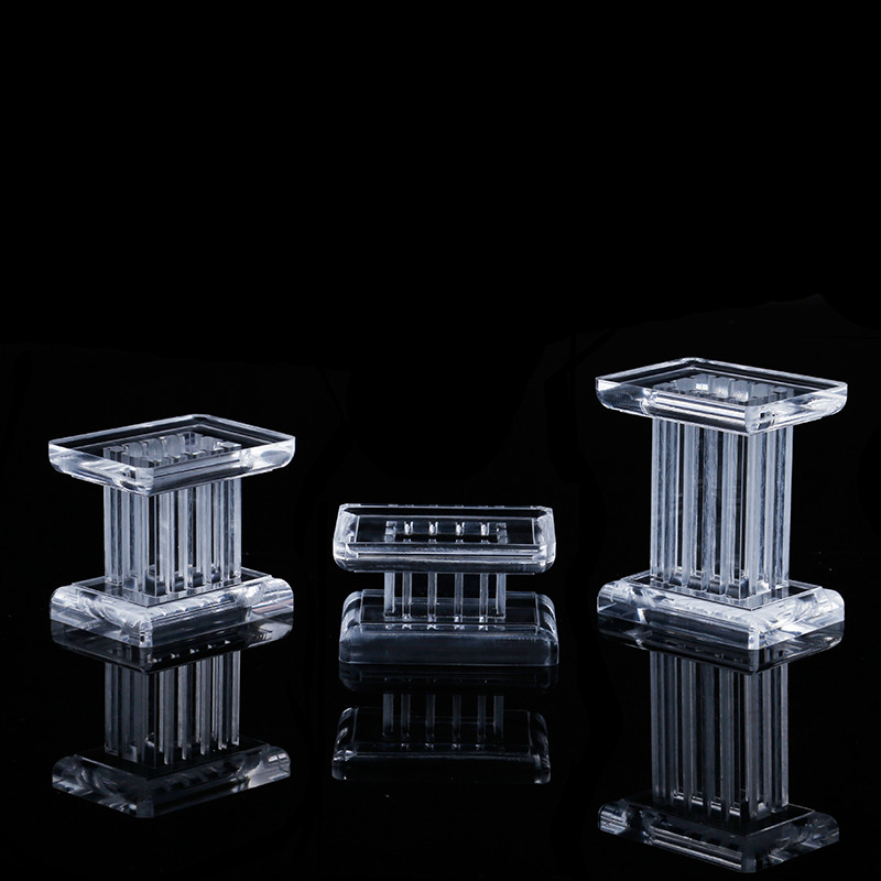 3 Pcs Acrylic Clear  Jewelry Display Blocks, Earrings, Rings, Pendant Display Stand Roman Column Jewelry Display Holder