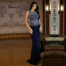 Finove Mermaid Evening Dresses Floor Length Party Dresses