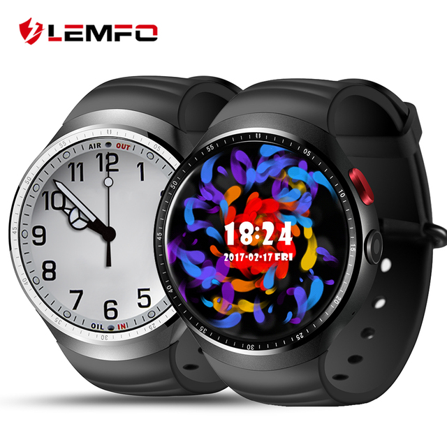 2017 Lemfo Новый смарт часы-телефон LES1 Android 5.1 1 ГБ + 16 ГБ Bluetooth SmartWatch для IOS Android-смартфон