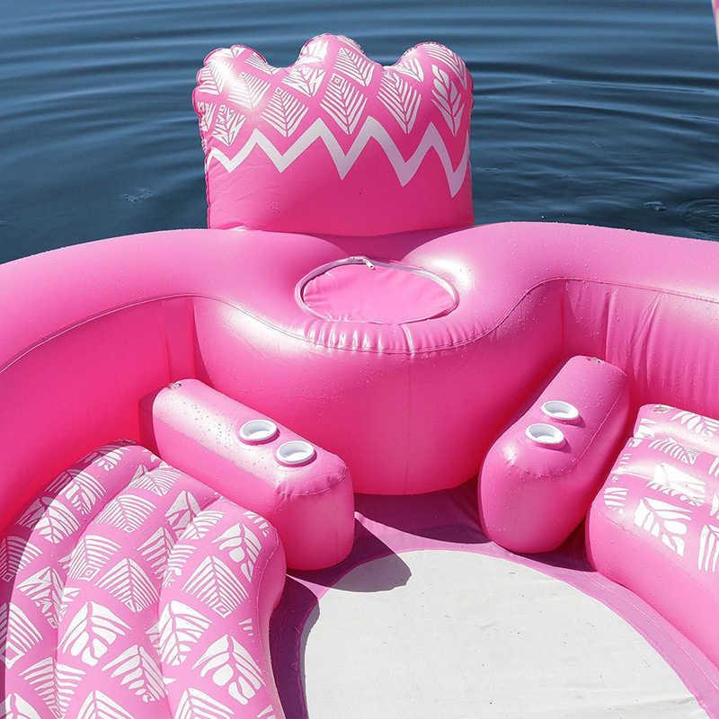 6 человек гигантский надувной фламинго бассейн поплавок плавательный остров Павлин плавающая лодка для взрослых пляжные вечерние игрушки для воды надувные матрасы
