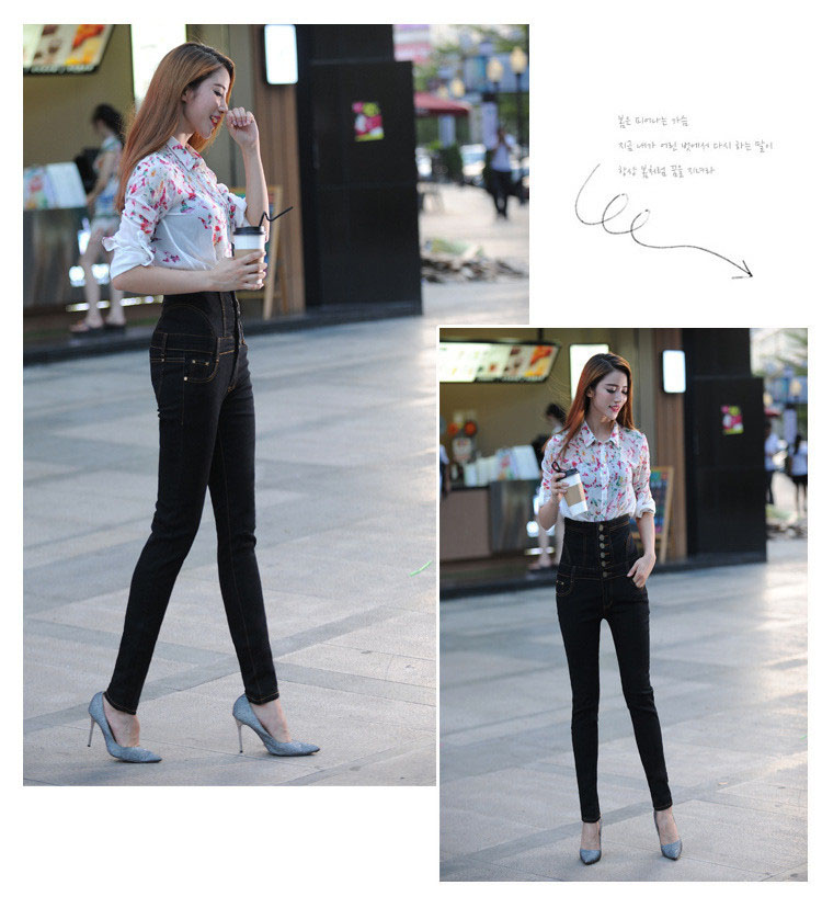 18 Jeans Womens High Waist Black Vintage Denim Long Pencil Pants Plus Size 6XL Woman Jeans Camisa Feminina Lady Fat Trousers 11
