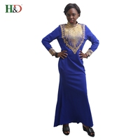 H D 2017 New Fashion African Bazin Riche Women Dress Traditional Embroider Sequins 100 Cotton Clothin