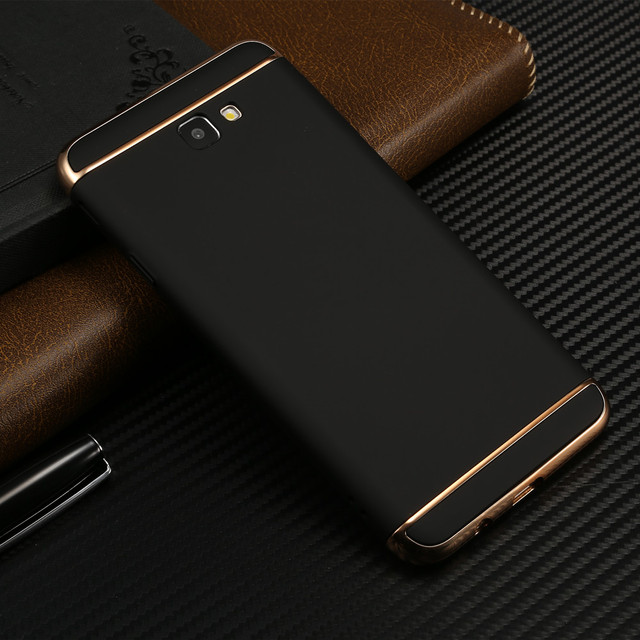 US $4 58 | luxury brand New black cover case for Samsung Galaxy J7 prime  Phone Bags j7prime with 3 in 1 fashion shell-in Fitted Cases from  Cellphones