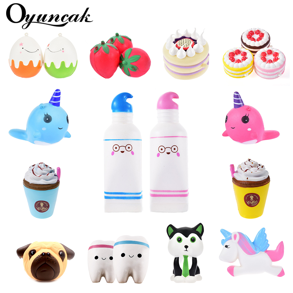 Oyuncak Squishy Toys Novelty Antistress Unicorn Squish Donut Jumbo Stress Relief Toys Surprise Popular Squeeze Anti-Stress Funny jumbo squishy brown cow relieve stress toys