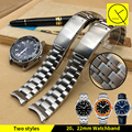 Solid Stainless Steel Watchband 20mm 22mm Fold Buckle Watch Bracelet for Omega Watch Seamaster Planet Ocean 600m Watchband Man
