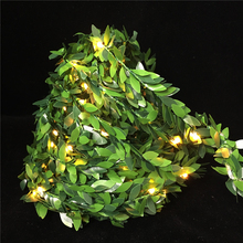5M 10M Outdoor LED Holiday Light Leaf Twine Fairy Garland String Lights Battery Usb Power Operate for Rustic Wedding Party Decor